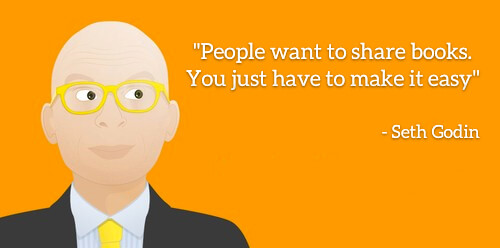 """Seth Godin: People want to share books. You just have to make it easy"""""""