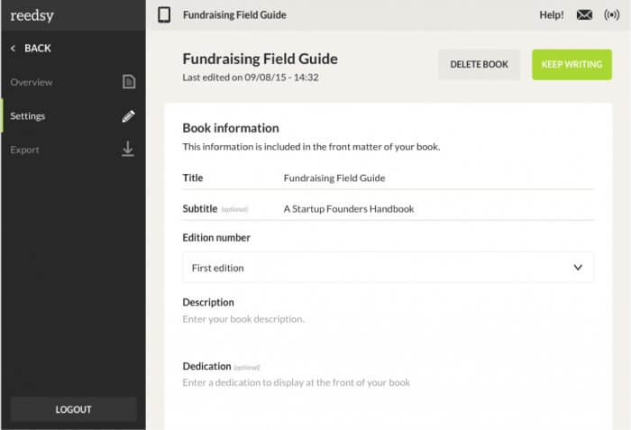 Creating Front Matter with the Reedsy Book Editor