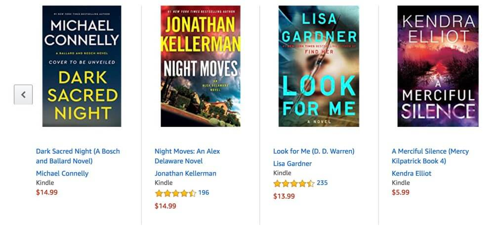 thriller covers on amazon