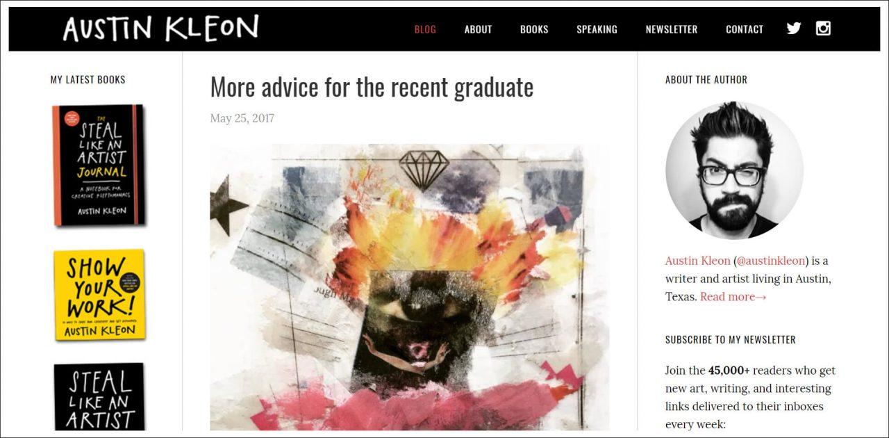 11 Author Websites That Get It Right - Austin Kleon