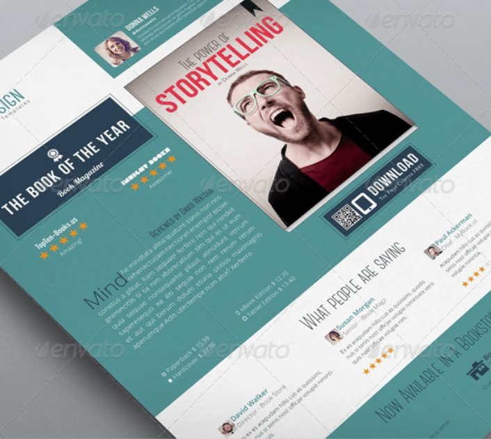 author media kit template - sell sheet