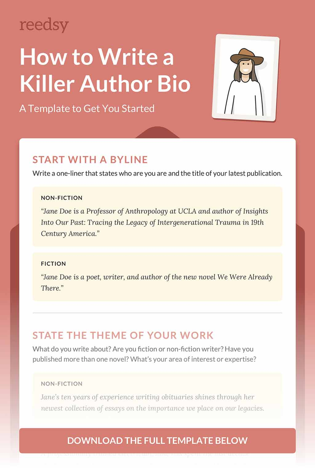 how to write an author bio with no experience examples