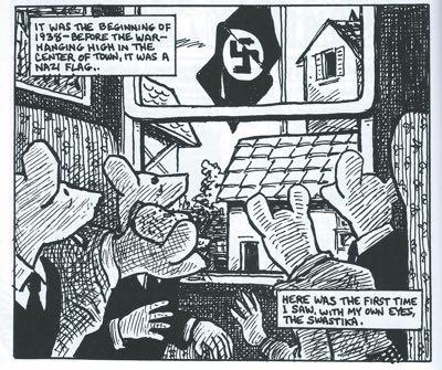 A panel from Art Spiegelman's Maus.