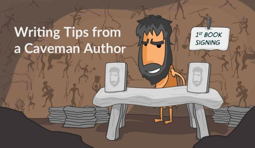 terrible writing advice from a caveman author