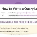 Query letter checklist