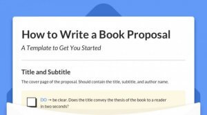 How to Write a Book Proposal A template to get you started
