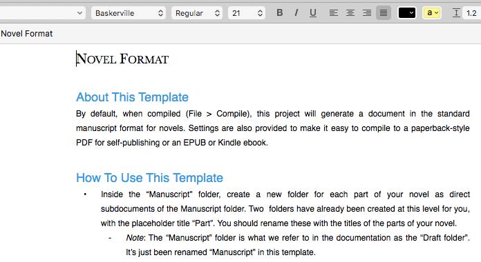 novel writing software