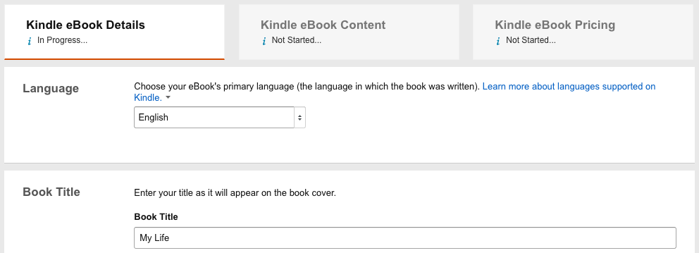 how to self publish a book on amazon