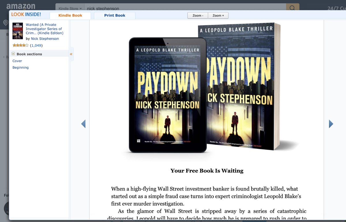 Reader magnet in-book Amazon